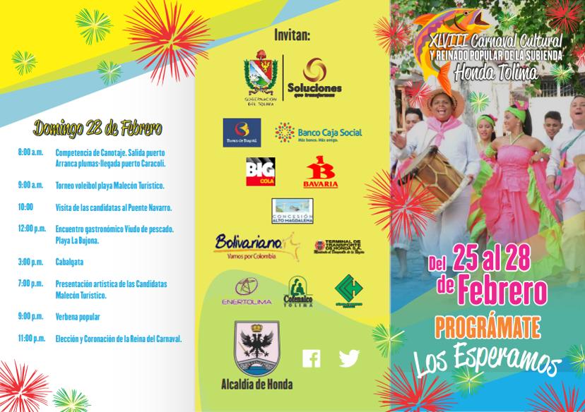 Carnaval Cultural y Reinado Popular de la Subienda Honda Tolima 2