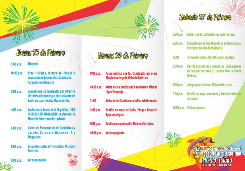 Carnaval Cultural y Reinado Popular de la Subienda Honda Tolima